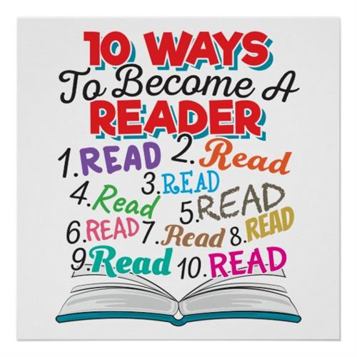 10 Ways to Become a Reader Poster