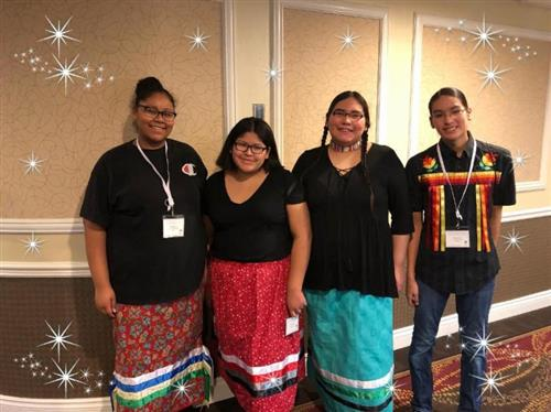 American Indian students at conference