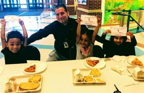 Pizza party at American Indian Magnet