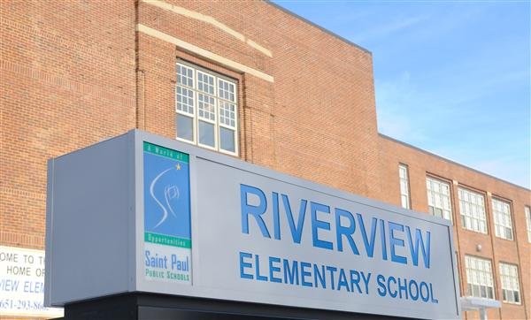 Riverview School Sign