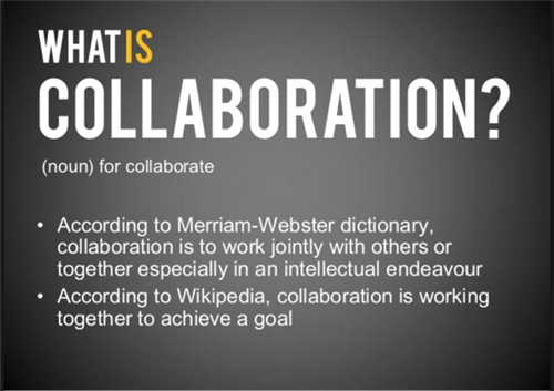 What Is Collaboration? Definition