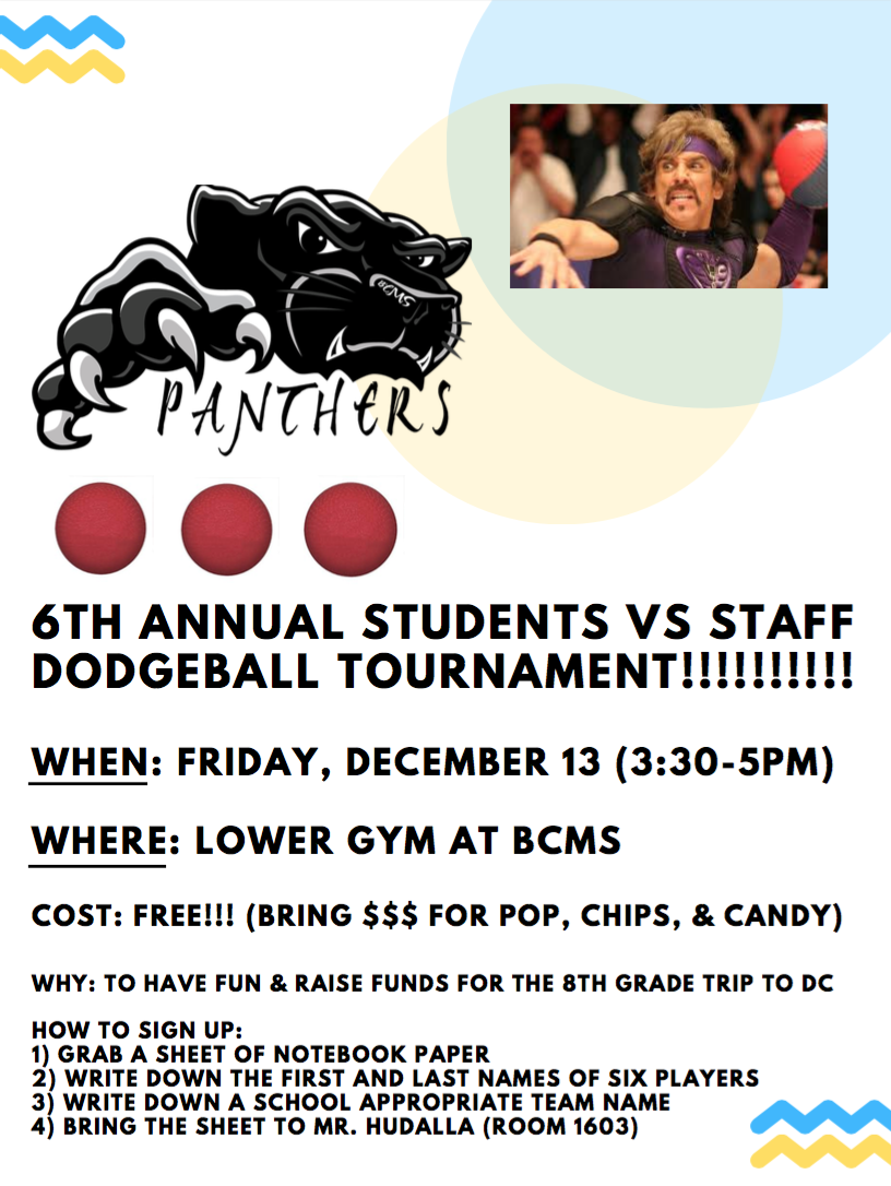 Staff vs. Student Dodgeball Game this Friday!