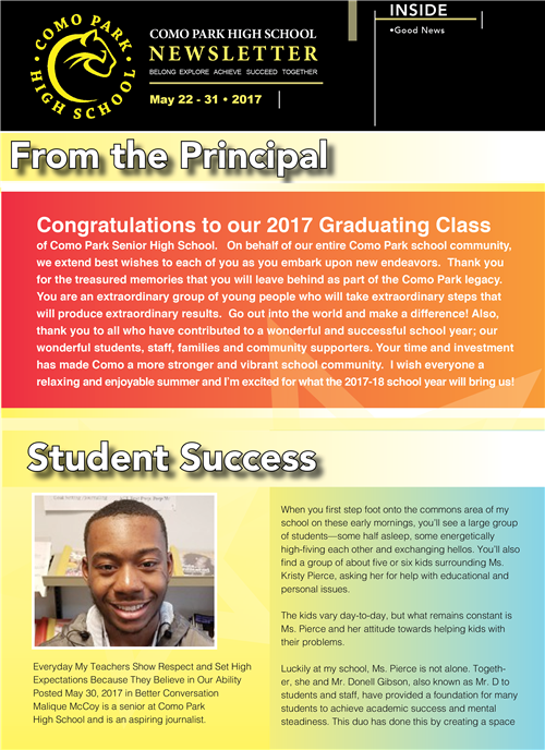 CPSHS Newsletter May Week 4, 2017