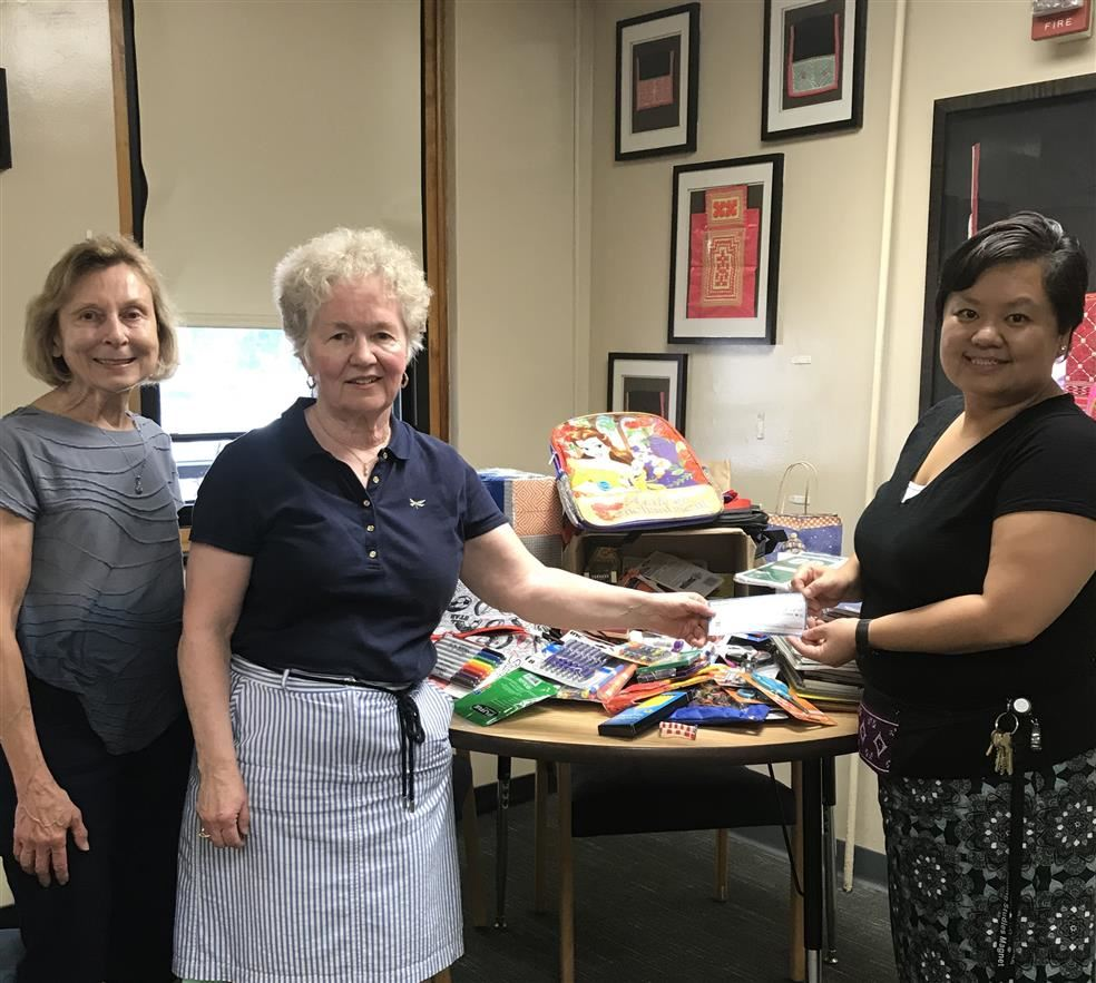 School Supply and Monetary Donations From St. Paul Teacher's Retirement Fund Association