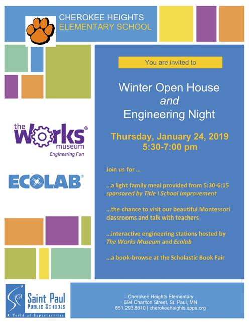 Engineering Night and Open House January 24