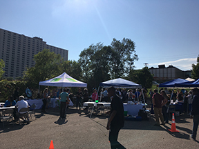 Community Partners hosted booths at the community celebration.