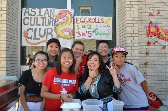 Asian Culture Club fundraising at Homecoming Tailgating