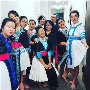 Hmong New Year dance crew ladies!!!