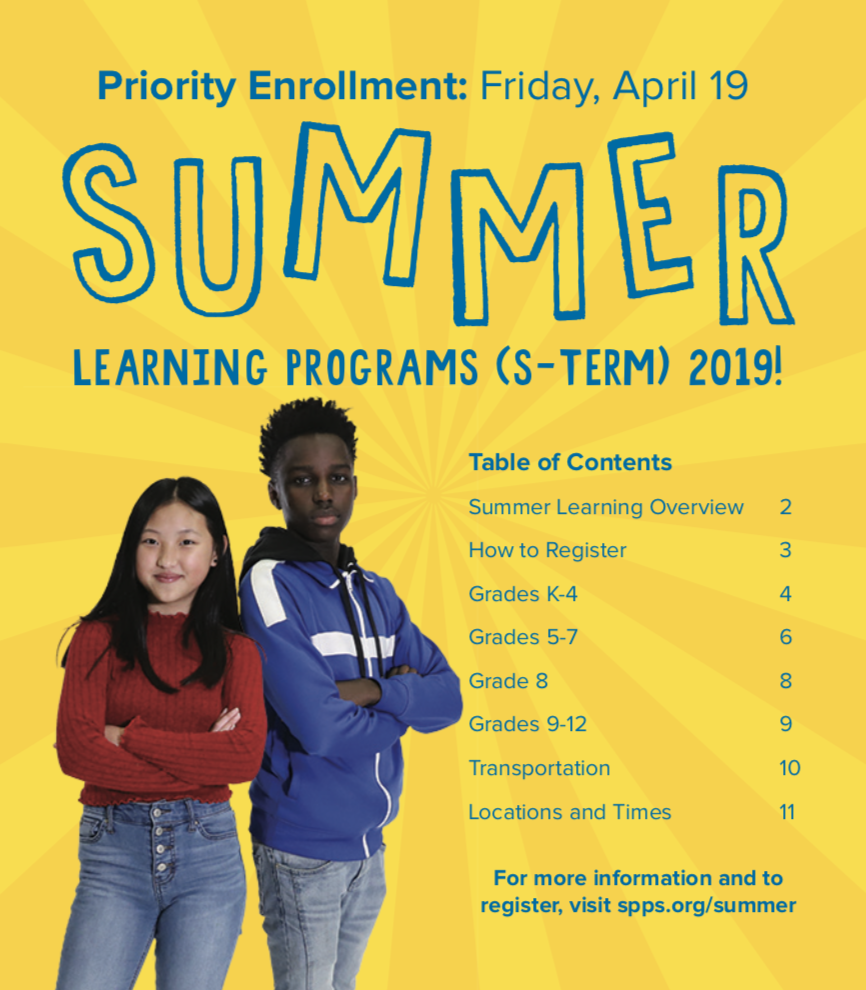 Photo of the Summer Learning Program guide