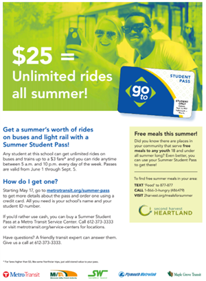 Metro Transit Summer Pass