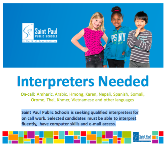 On-Call Interpreters Needed