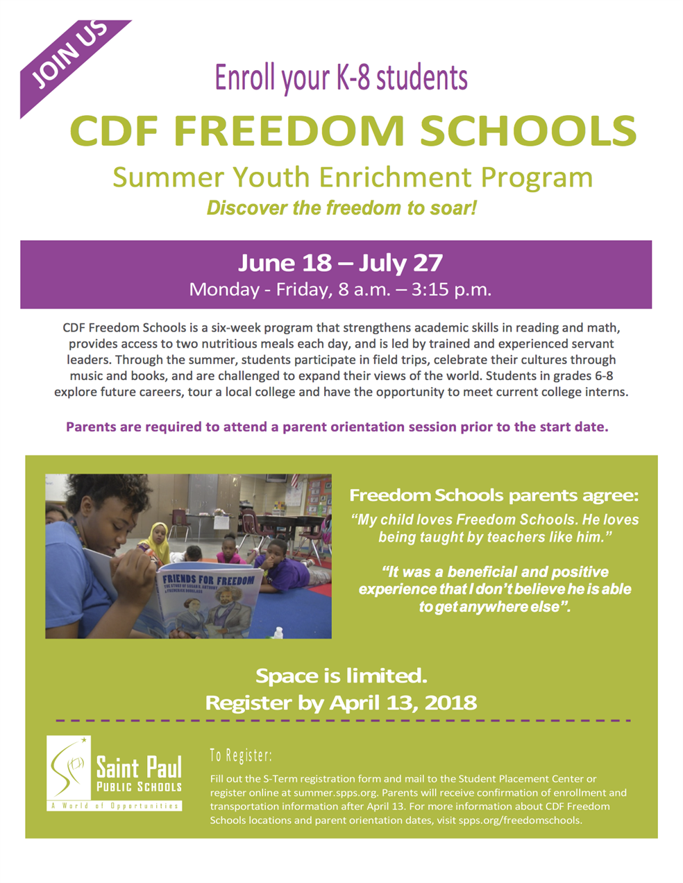 CDF Freedom Schools: A Paradigm Shift. headshot
