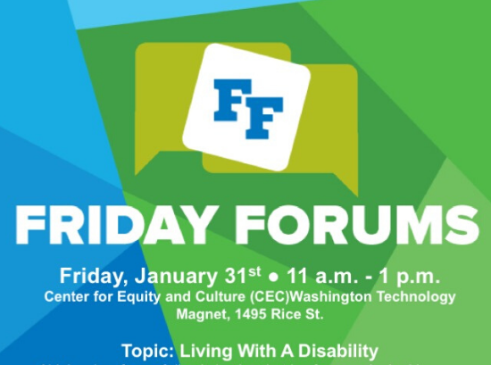 Friday Forum: Living with a Disability