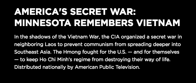Equity Film/Discussion Series: America's Secret War - Click on Image for Details
