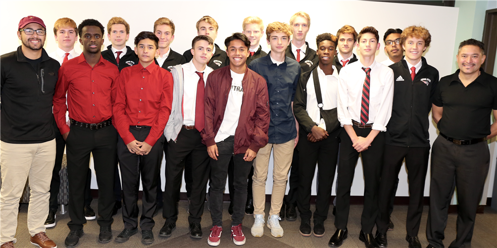 Photo of the Central boys soccer team.