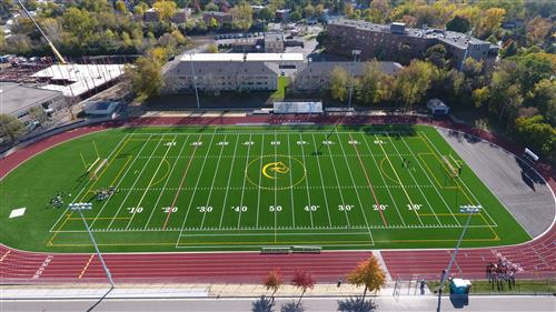 Aerial View of our new turf field!