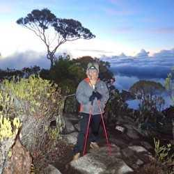 At the top of Mount Kinabalu in Borneo