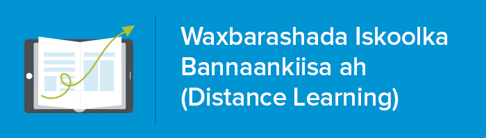 Distance Learning Logo in Somali