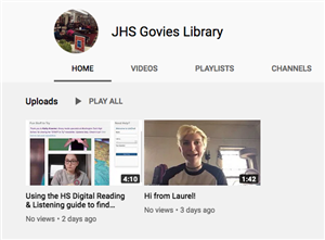 JHS Govies Library YouTube