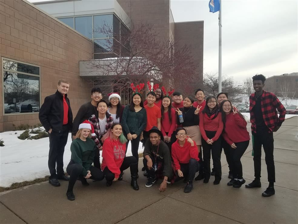 Johnson High School Choir Caroling