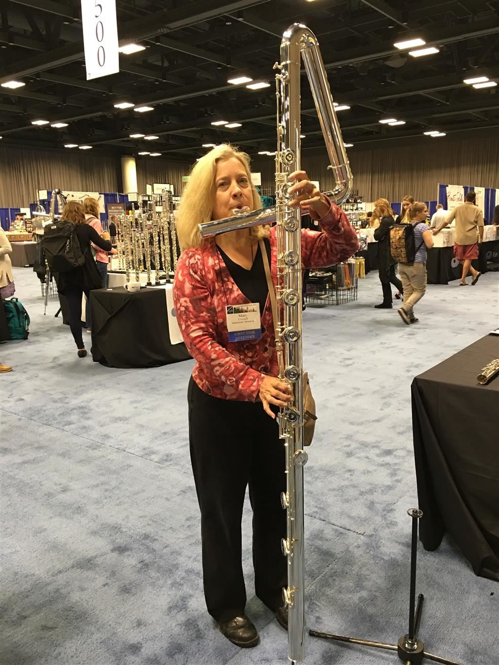 Ms. Mary and the Bass Flute!