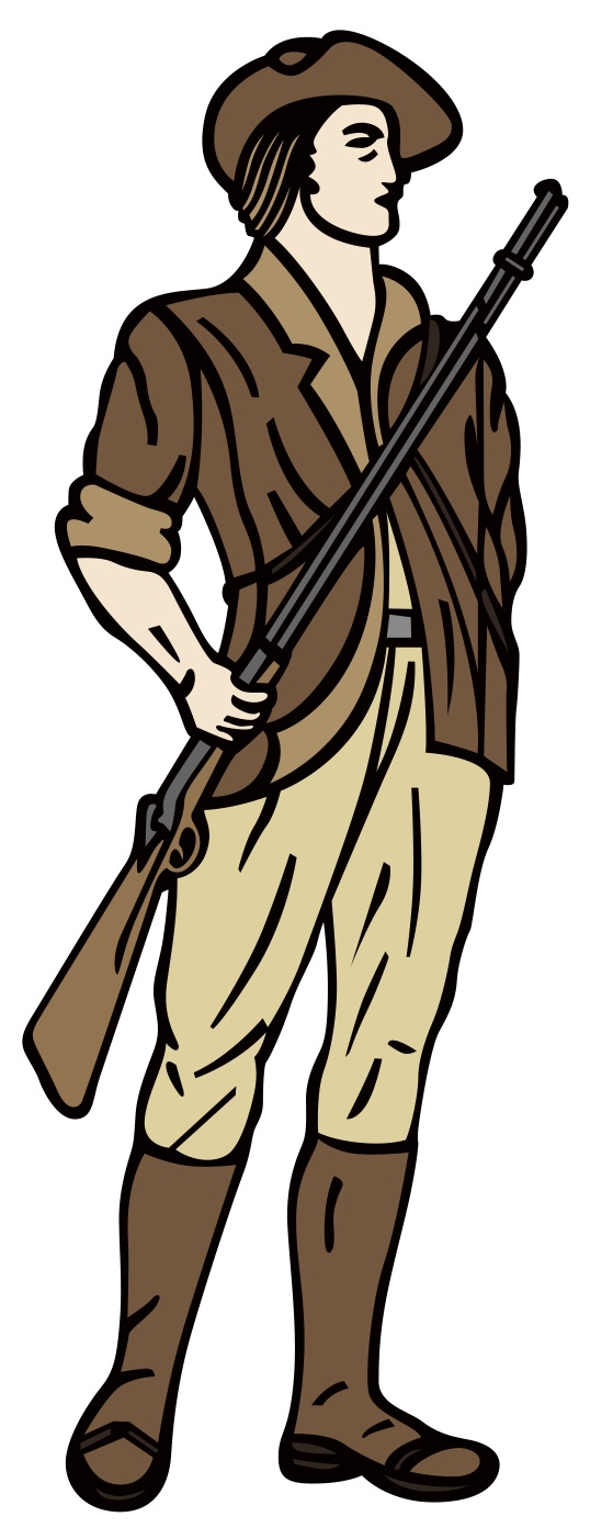 Minuteman figure colored