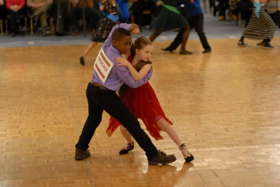 Olivia and Patrick dance the tango.
