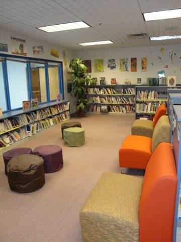 The library reading area