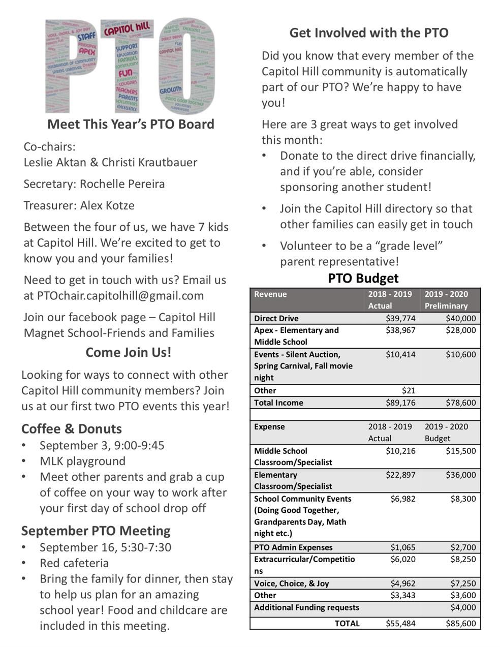 PTO Open House Flyer