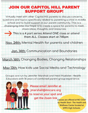 Capitol Hill Parent Support Group
