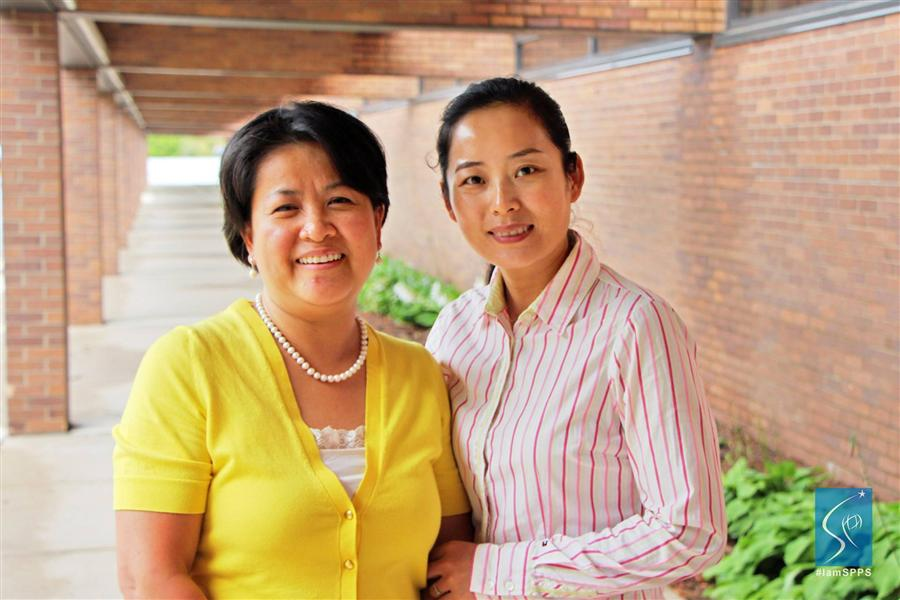Bobbie Johnson, Principal, Hamline Elementary and Jie Ming