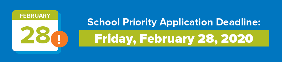 Priority Application Deadline graphic