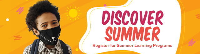 Summer Learning Program registration banner