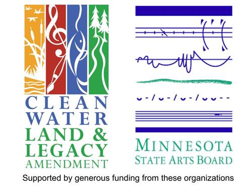 Clean water land and legacy & Minnesota State Arts Board logos