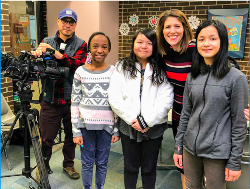 Frost Lake students interviewed on WCCO