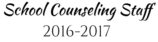 School Counseling Staff 2016-2017