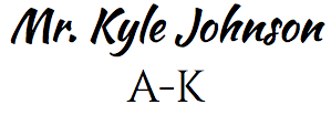 Mr. Kyle Johnson A-K