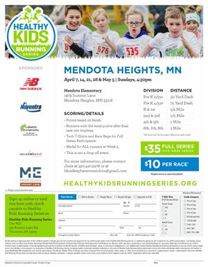HEALTHY KIDS RUNNING EVENTS
