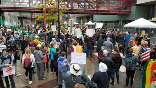 Protests outside Target Center