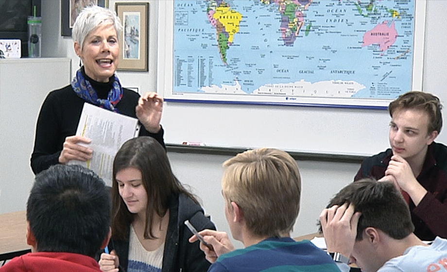 Maureen Peltier, a French teacher at Central High School, has been named the Central States Regional Teacher of the Year.