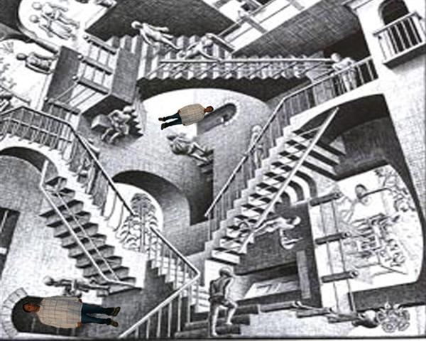 Original art by Escher, Photoshop as Art, by Leonardo Casterjon