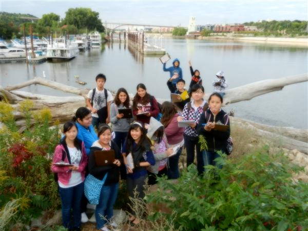 OWL ELL Students participate in fieldwork on Raspberry Island