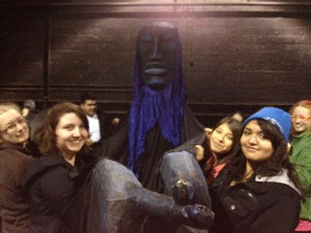OWL Spanish Students during a fieldwork experience at In the Heart of the Beast Puppet and Mask Theater