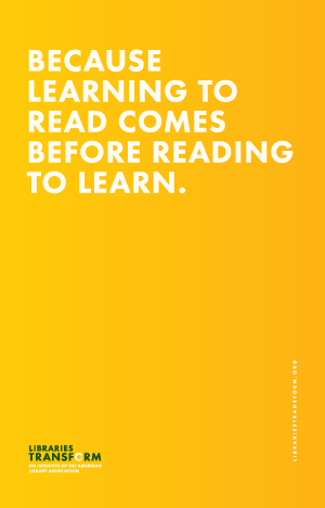 Because learning to read comes before reading to learn