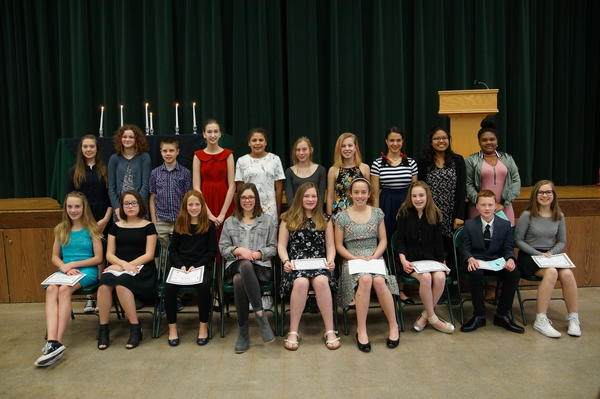 Welcome new NJHS members! 2015 Induction Night.