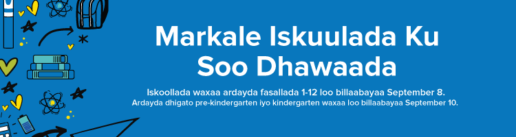 Welcome banner in Somali