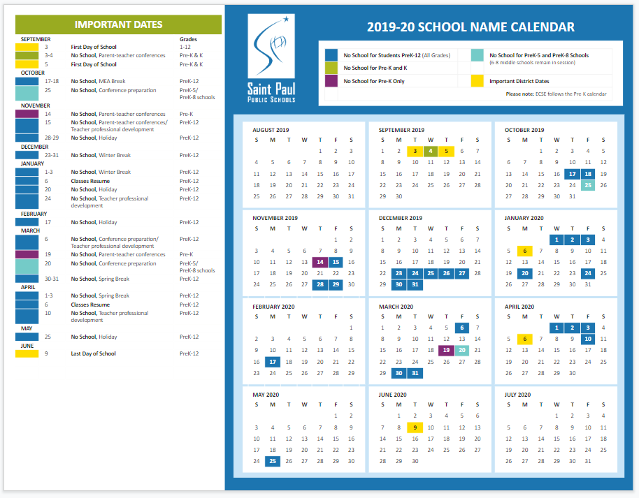 School Marketing Toolkit / Calendars