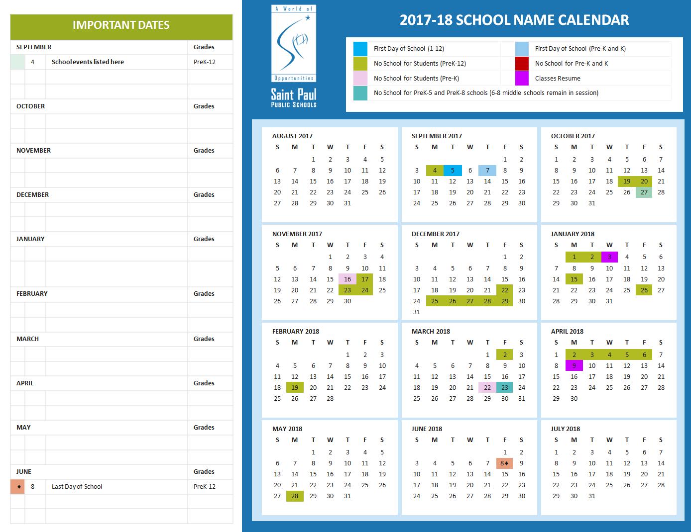 Spps Calendar.Human Resources Announcements Saint Paul Public Schools Mandegar Info