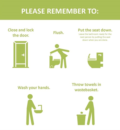 Tips for clean and restpectful restrooms