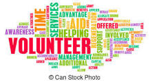 word art with words related to volunteering